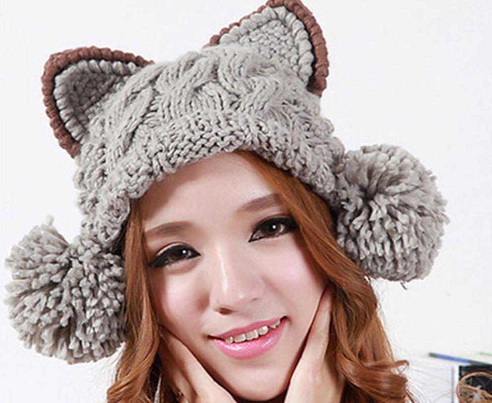 вязанные шапки для женщин оптом